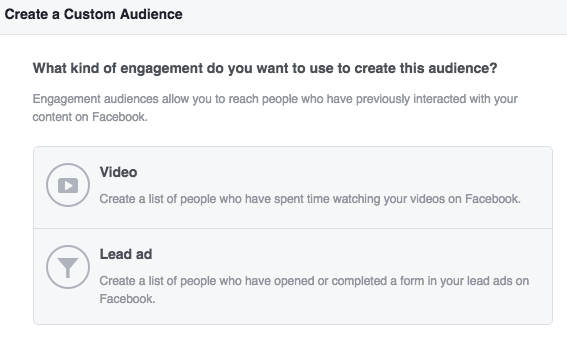 Facebook Lead Ads Engagement